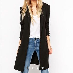 ASOS Long Blazer Jacket Black